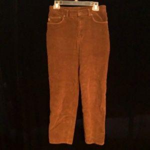 Ralph Lauren Brown Corduroy Pant, Size 8